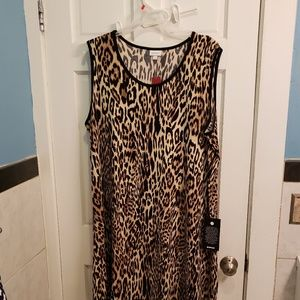 Avenue animal print shift dress